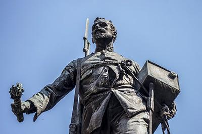 La estatua de Eloy Gonzalo