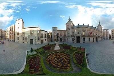 La Plaza de la Villa…. desde nuestra escalera